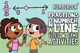 Fractions on a Number Line: Worksheets, Game, Animated Vid