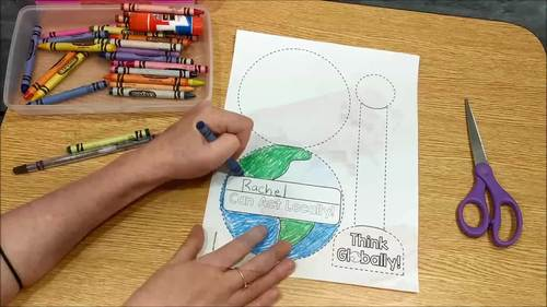 Earth Day GLOBE: One Page Craftivity