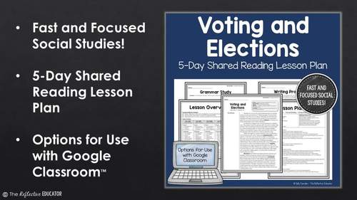 Voting and Elections: Shared Reading Lesson Plan