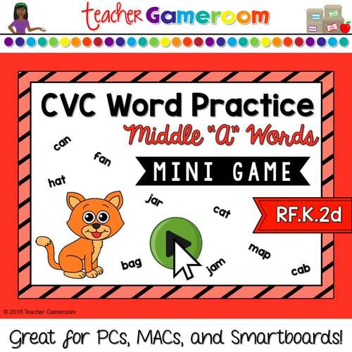 CVC Middle A Practice Mini Game