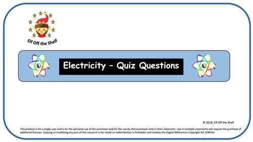 Electricity - 35 Question Interactive Quiz
