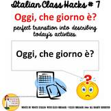 Italian Class Transition Video Date for CI TCI TPRS and 90