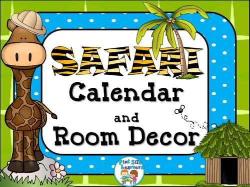Classroom Decor  Room Theme  Safari  Editable