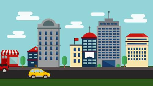 5 Animated Video Backgrounds - Cityscapes #2