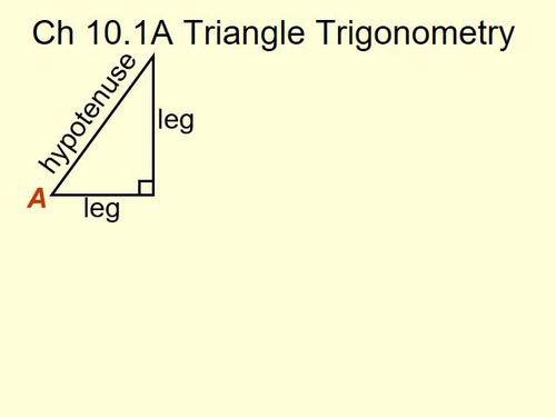 Triangle Trigonometry