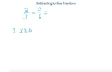 Visual Fractions - Subtracting Unlike Fractions