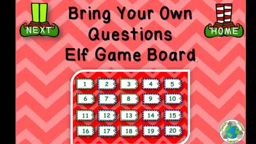 Bring Your Own Questions Christmas PowerPoint Review Game Ten Pack