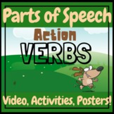 ELA ESL Action Verbs Teaching Video, Worksheets, and Posters
