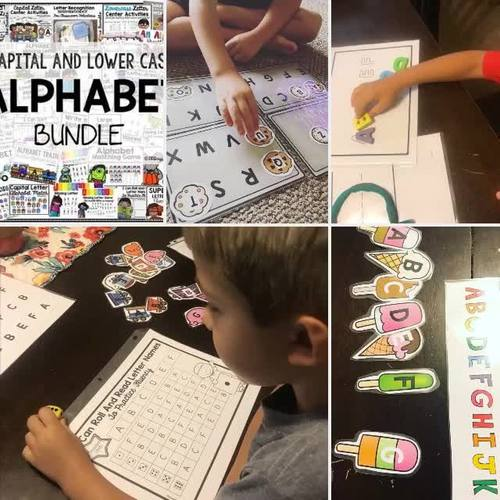 Letter Games Activities and Worksheets for Centers and Morning Work