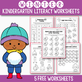 FREE Sample of Winter Activities For Kindergarten (Literac