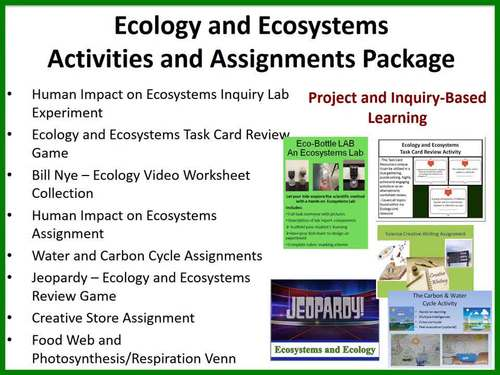 Ecology and Ecosystems Activities and Assessments Package