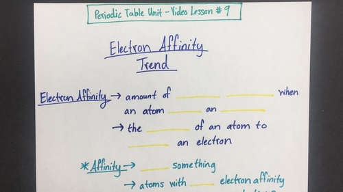 Electron affinity trend video lesson by chemistry with confidence video thumbnail for electronaffinitytrendclipped urtaz Gallery