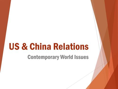 United States and China Relations Current Events Unit for Special Education