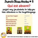 "8 French Class Transition Video ""Who is Absent"" for CI TCI"