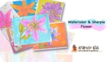 Spring Lily in Watercolor & Ink Art lesson