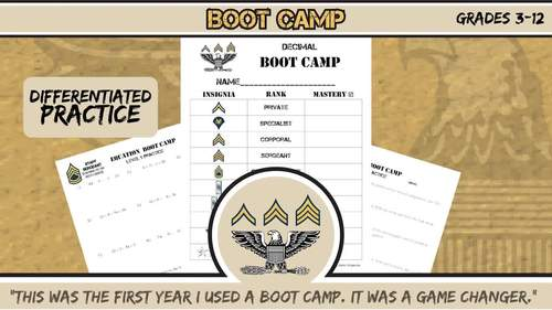 Derivative Boot Camp -- Differentiated Practice Assignments