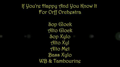 If You're Happy And You Know It For Orff Ensemble