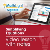 Solving Multi-Step Equations Video Lesson with Guided Notes