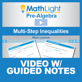Multi-Step Inequalities Video Lesson with Guided Notes