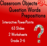 Video ❘ Question Words ❘ Prepositions ❘ Classroom Objects
