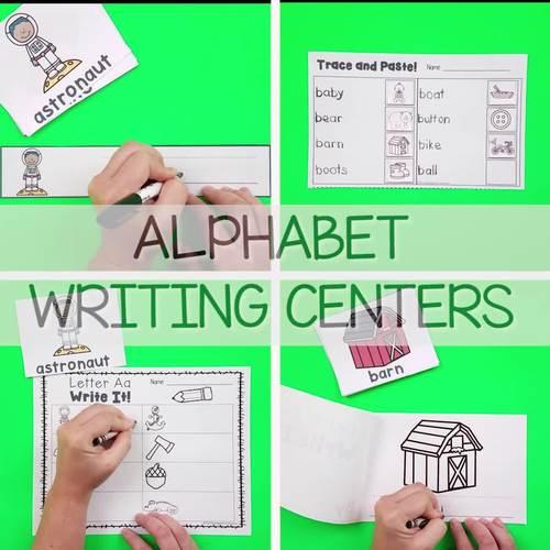 Alphabet Writing Centers