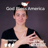 God Bless America - American Sign Language Instructional Video