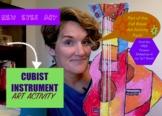CUBIST Instrument Activity! Fall Break Art Activity Pack!