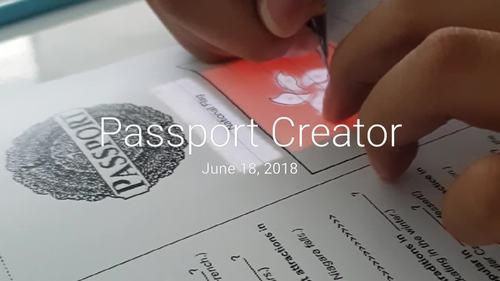 Passport Creator - ESL Speaking & World Knowledge Activity