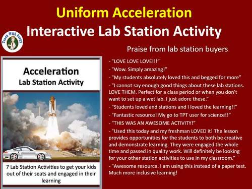 Uniform Acceleration - 7 Engaging Lab Stations