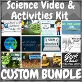 CUSTOM BUNDLE of Science Videos & Activities! Choose 3+, B