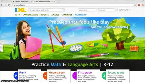 Unique user account full access for 1 year - IXL math education