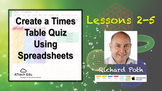 Lessons 2 - 5: Create a Times Table Quiz while learning Sp
