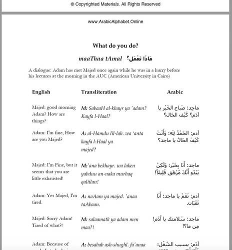 Arabic Jobs with Video (Full Lesson)