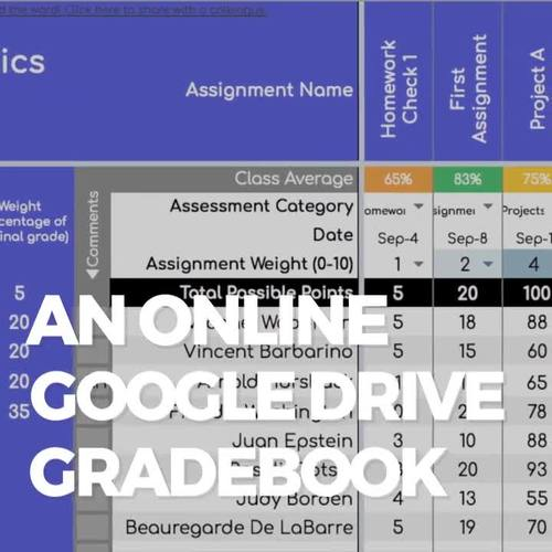 Gradebook for Google Drive: Standards-Based AND Traditional Data Tracking
