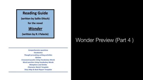 Guided Reading Activities for the Novel Wonder by R J Palacio