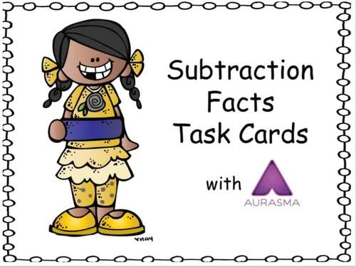 Augmented Reality MATH Task Cards Using Aurasma - Subtraction Facts