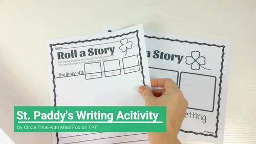 St Patricks Day Writing Centers, St Paddy's Day Writing, Roll a Story Dice Game
