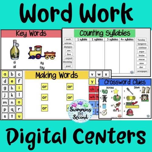 R-Controlled Vowels (er, ir, ur) Digital Centers