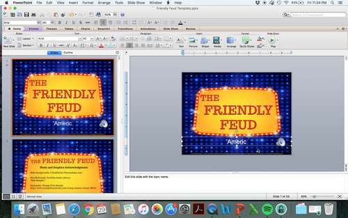 the friendly feud classroom powerpoint game template based on family feud