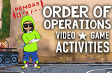 Order of Operations Activities: PEMDAS Video, Game, Poster