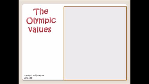 """Olympic Values in a song . """"To be the best I can """" and video"""