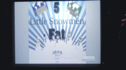 Five Little Snowmen Fat Smart Board Activity