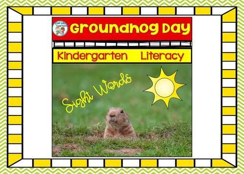 Groundhog Day Activities With Sight Words Kindergarten