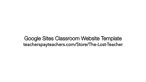 Google Sites Class Website Template by The Lost Teacher | TpT