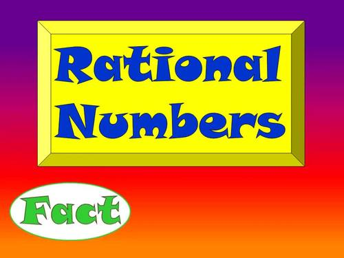Fact or Fib - Rational Numbers Animated PowerPoint