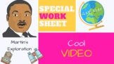 Dr. Martin Luther King Jr. Exploration Video and Worksheet