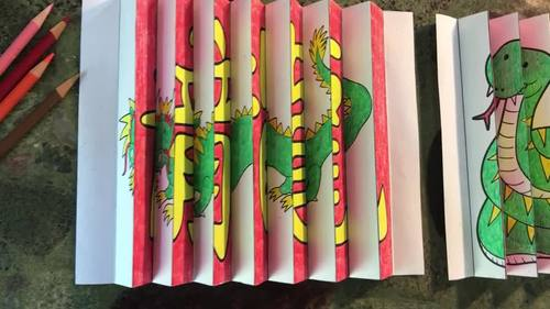 CHINESE NEW YEAR Writing Activity and Craft: The Year of the Snake Agamograph