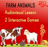 Farm Animals for Kindergarten ❘ Video Lesson ❘ Games ❘ Mus