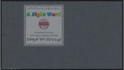 Sight Word Activity - PowerPoint and Emergent Reader for the sight word FIND