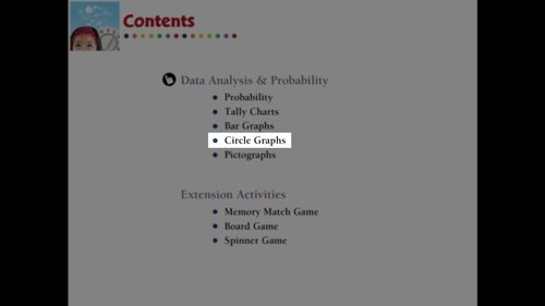 Data Analysis & Probability: Circle Graphs - MAC Gr. PK-2